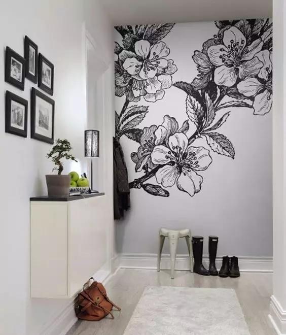 黑白墙绘,艺术范潮流感 简单,干净,时尚                   森林